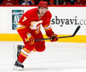 Tj Brodie - Photo courtesy of the Calgary Flames
