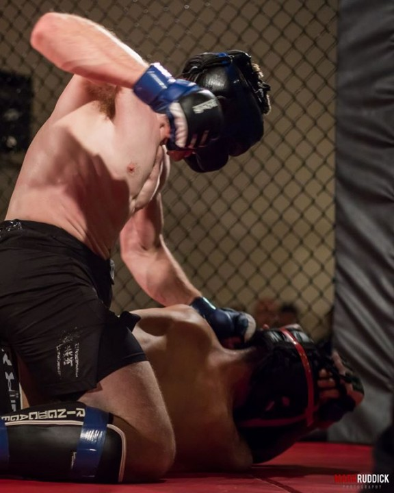 More than 500 people packed the Chatham Banquet Hall & Conference Centre for the debut of Maple City Cage Fighting on Saturday night.