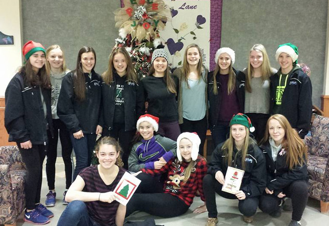The Chatham Outlaws Bantam U0027AAu0027 Team Visited Riverview Gardens Nursing Home  To Spread A Little Christmas Cheer U2013 Contributed Photo