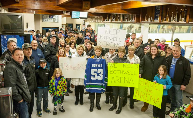 Bothwell Arena support
