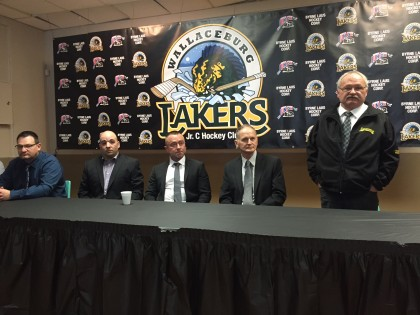 The Byrne Laus Hockey Corporation was introduced as new owners of the Wallaceburg Lakers on Wednesday afternoon