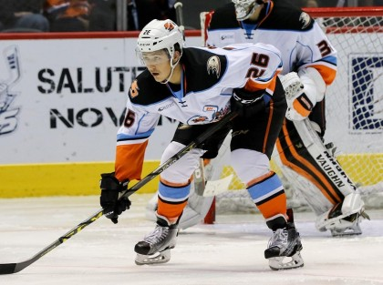 Brandon Montour with the San Diego Gulls - Photo from TheAHL.com