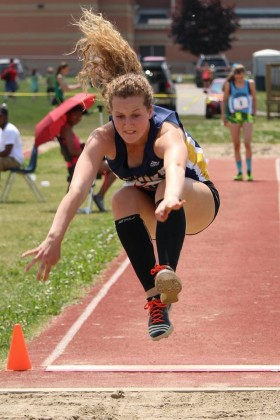 CKSS' Erin Young won a silver medal at OFSAA this weekend in long jump - Photo by Peggy Johnson