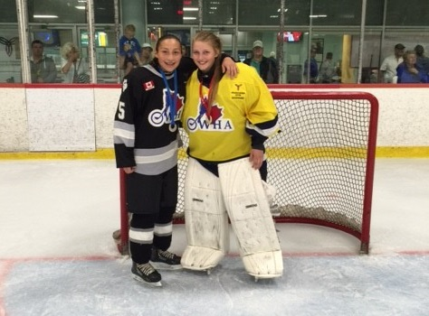 Kaitlin Issac (left) won silver while Emma Gorski (right) backstopped her team to a gold medal at the Ontario Summer Games in Mississauga