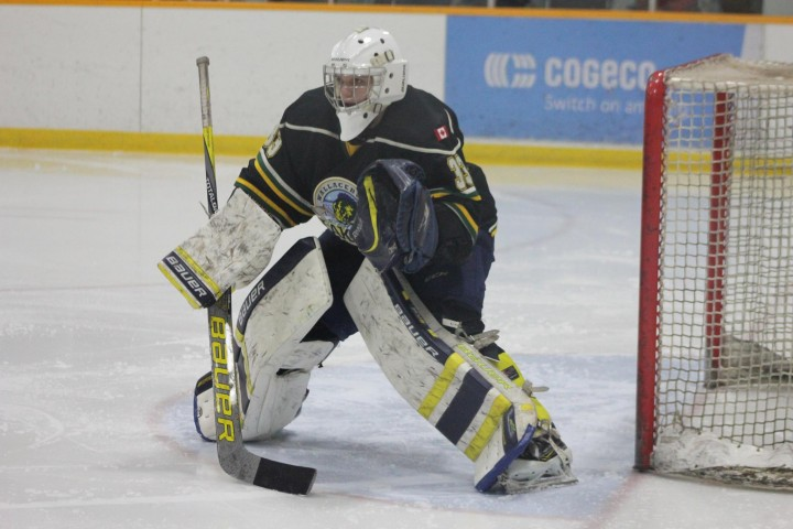 Lakers goaltender George Hill stopped 36 shots on his way to a shutout in a 1-0 Lakers win over Petrolia on Wednesday night.