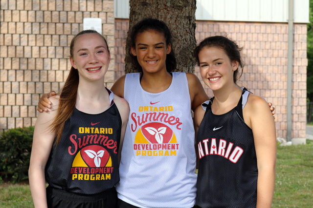 Sara Turner, Taliah Belanger, and Claire Cox