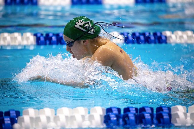 Maddy Lavoie swimming Delta State