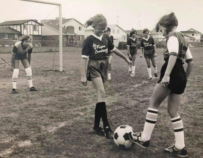 Chatham girls soccer in 1980