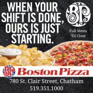 Boston Pizza Chatham menu