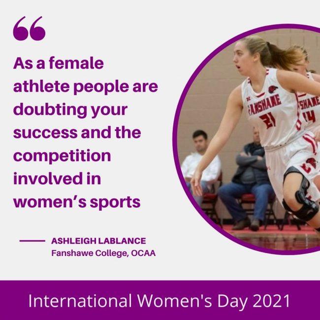 Ashleigh LaBlance - International Women's Day