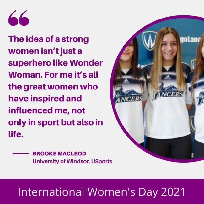 Brooke MacLeod - International Women's Day
